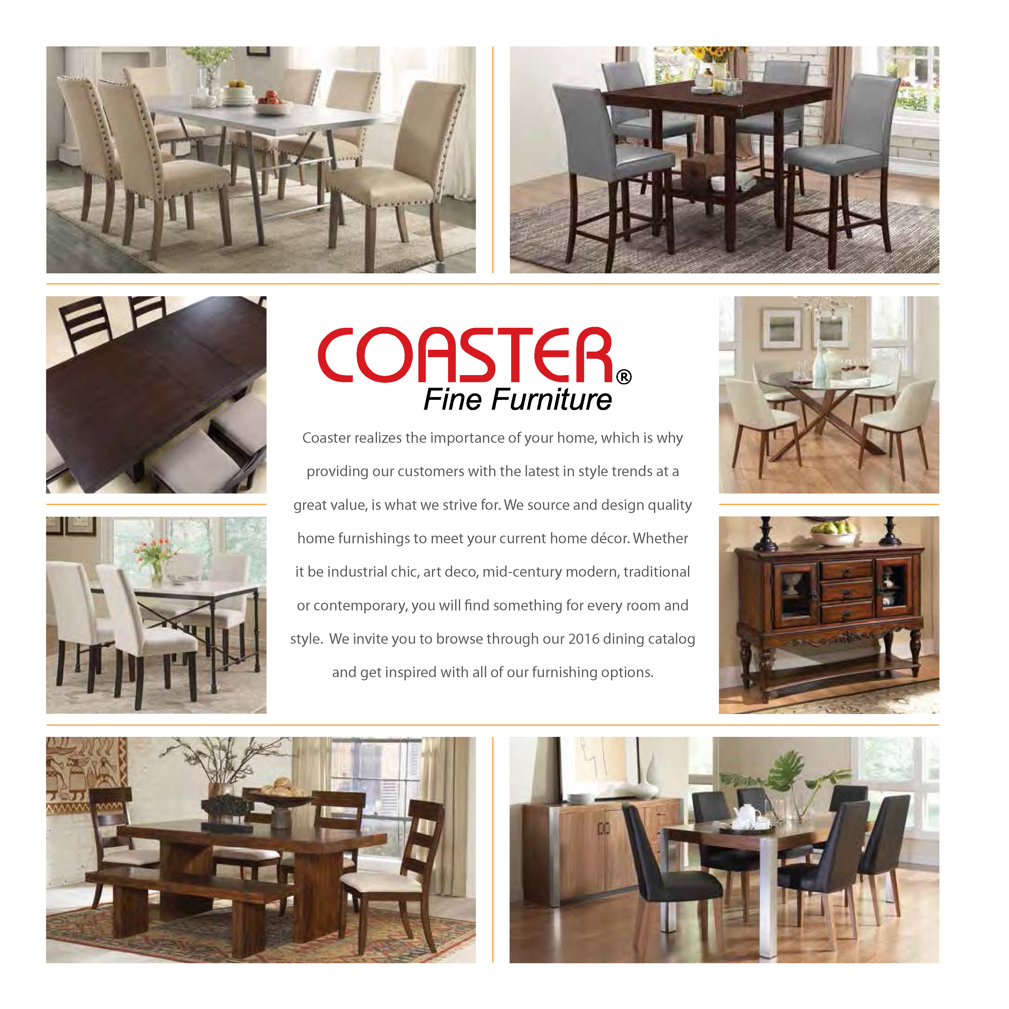 Coaster 2016 Dining Catalog Lisys Discount Furniture