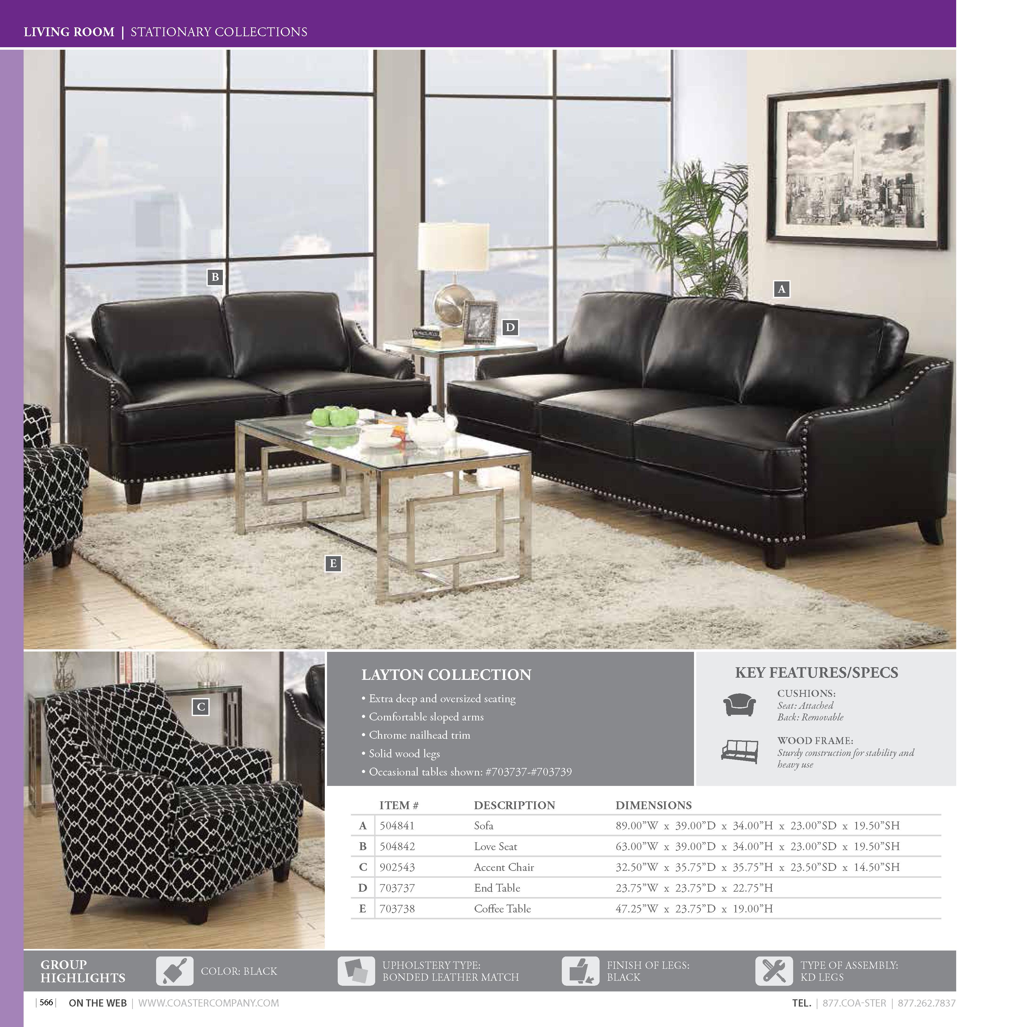Coaster 2016 Living Room Catalog