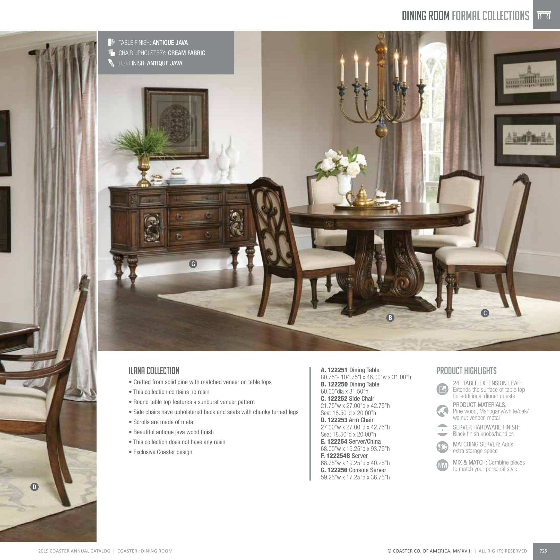 View 2019 Dining Room Catalog As PDF