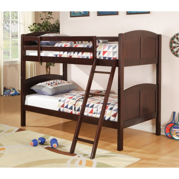 Coaster Parker Youth TwinTwin Bunk Bed in Cappuccino 460213