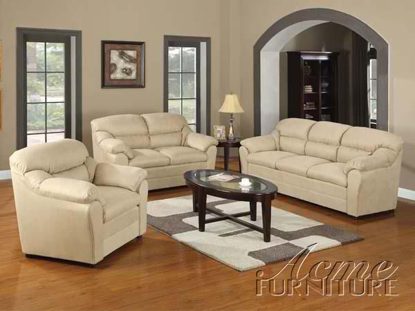 acme fine furniture 15170 connell beige microfiber living