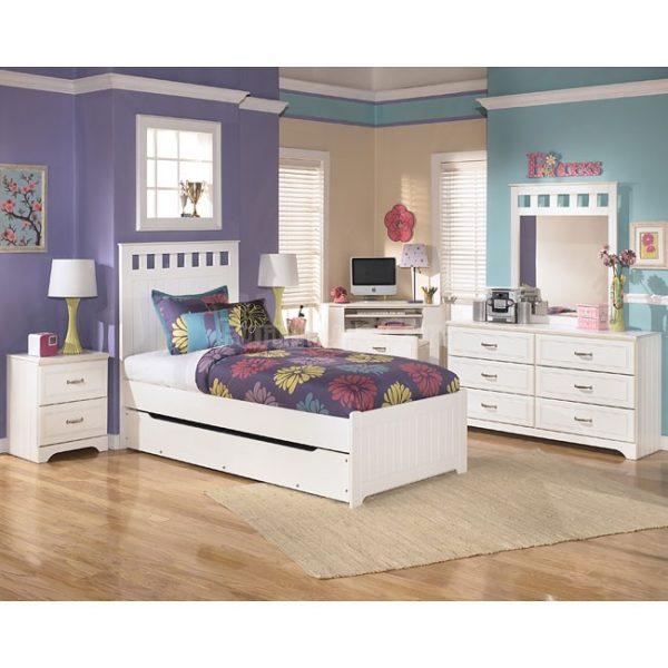 Lulu Panel Bedroom Set w Trundle Lisys Discount Furniture