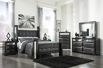 Alamadyre Upholstered Poster Bedroom Set B364 | Lisys ...