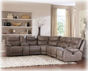 """""""Pegram Pebble"""" sectional upholstery collection offers"""